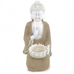 Buddha della pace con portalumino 33 cm