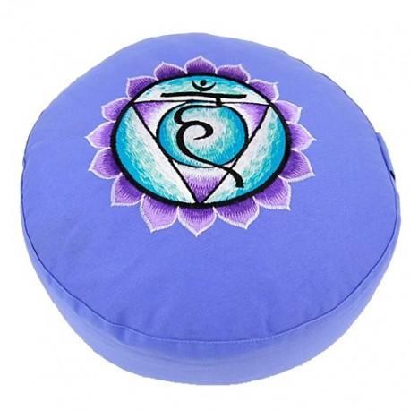 Cuscino da meditazione - 5° chakra Vishuddha - blu