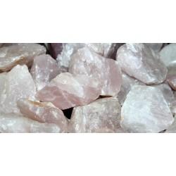 Quarzo rosa grezzo, qualità A 3/4 cm