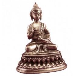 Buddha Amogasiddhi: statua artigianale in ottone