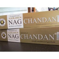 """Incensi Golden Nag Chandan Masala Sandalo """"certificati naturali"""""""
