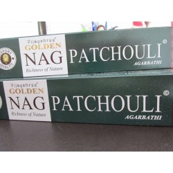 "Incensi Golden Nag Patchouli ""certificati naturali"""