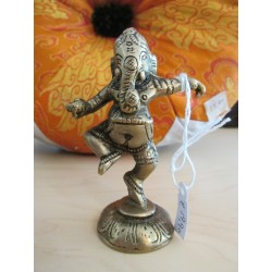 Ganesh danzante ottone
