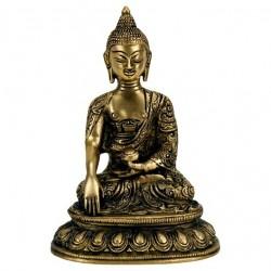 Statua Buddha seduto : statua artigianale in ottone