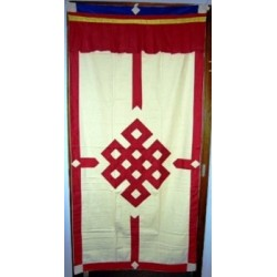 Tenda tibetana per porta - rosso/avorio