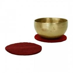 Base in feltro per campane tibetane marrone rosso