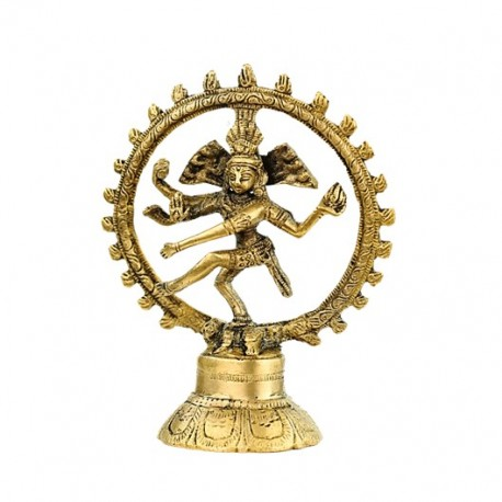 Shiva Nataraj - ottone - monocolore 15 cm