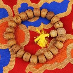 Mala di semi dall'Albero della Bodhi - 18 grani chiari da 1,3 cm