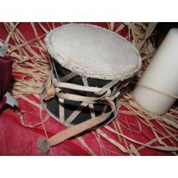 Damaru tamburo doppio circolare classico Nepal