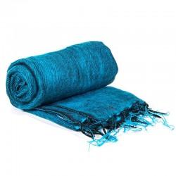 Scialle da meditazione blu acqua