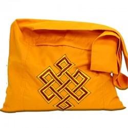 Borsa Lama arancio con Nodo infinito