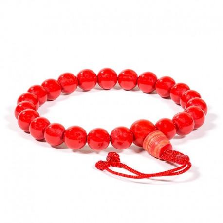 Mala/braccialetto in corallo 21 grani