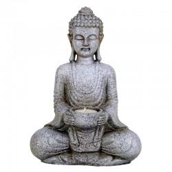 Statua Buddha Pacifico con portacandela