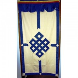 Tenda tibetana per porta - giallo/avorio