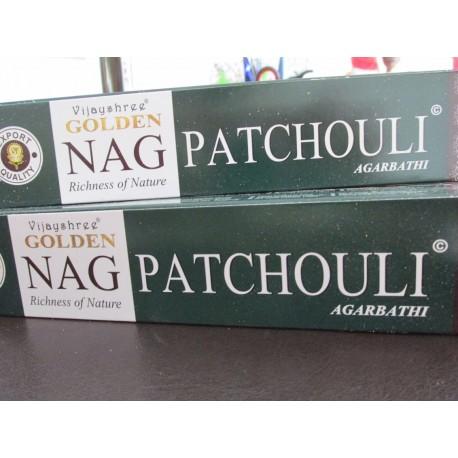"Incensi Golden Nag Patchouli ""certificati naturali"""