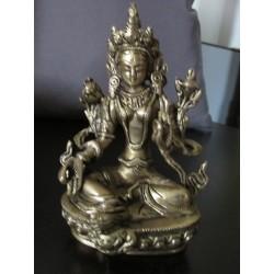 Statua Tara Verde : statua artigianale in ottone
