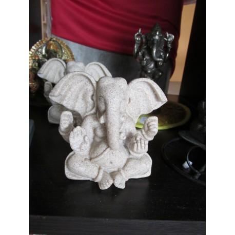 Statua Ganesh seduto : statua artigianale indiana