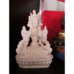 Statua Tara Bianca : statua artigianale indiana