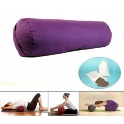 Cuscino per yoga (sostegno) - cilindrico - viola