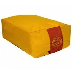 Cuscino da meditazione rettangolare - 3°chakra Manipura - giallo